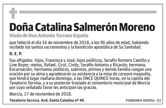 Catalina Salmerón Moreno