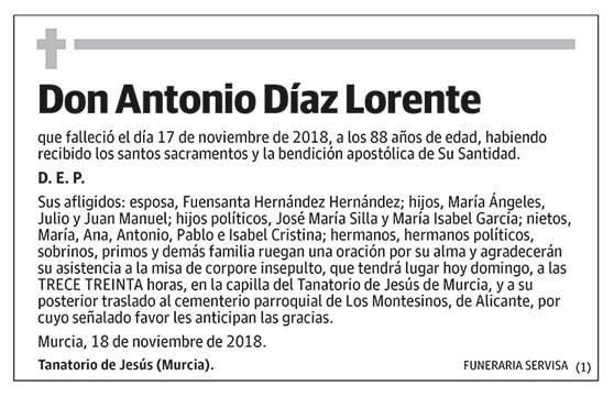 Antonio Díaz Lorente