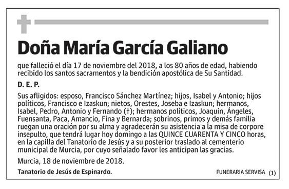 María García Galiano