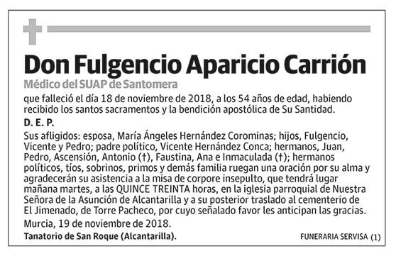 Fulgencio Aparicio Carrión