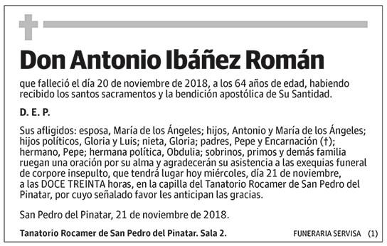 Antonio Ibáñez Román