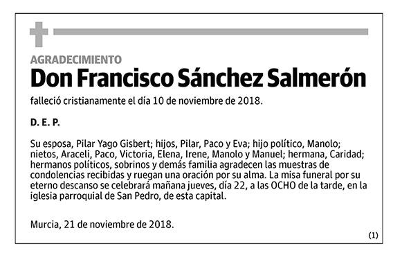 Francisco Sánchez Salmerón