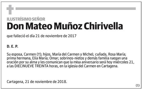 Mateo Muñoz Chirivella