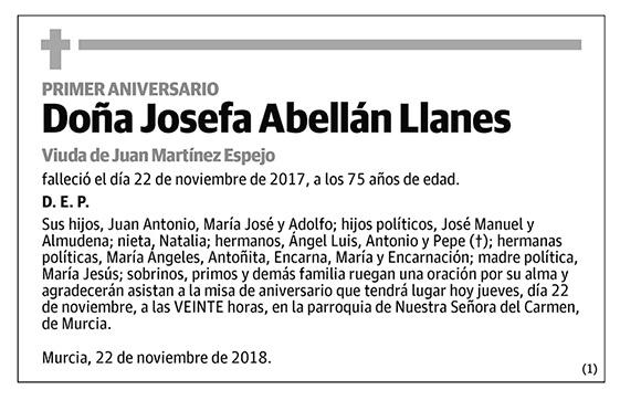 Josefa Abellán Llanes