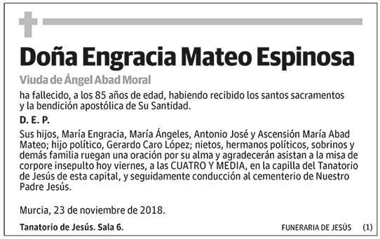 Engracia Mateo Espinosa