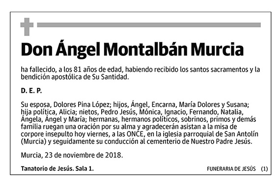 Ángel Montalbán Murcia