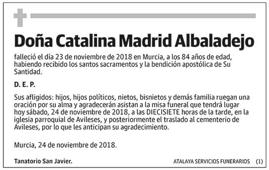 Catalina Madrid Albaladejo