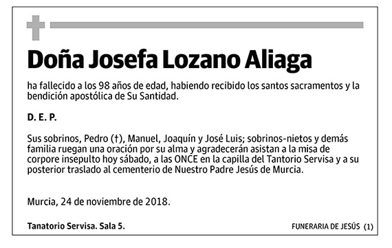 Josefa Lozano Aliaga