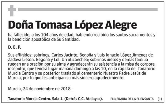 Tomasa López Alegre