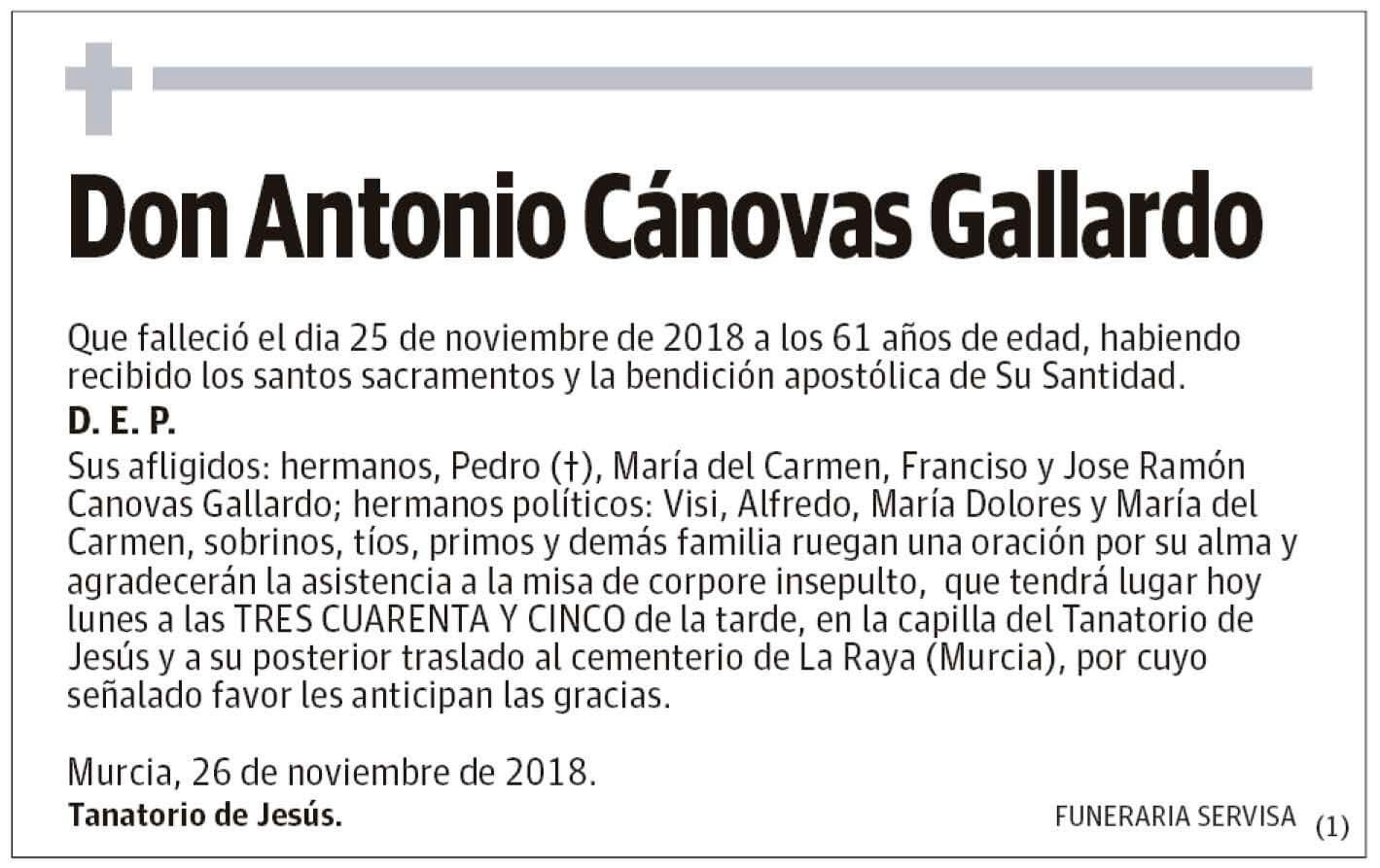 Antonio Cánovas Gallardo