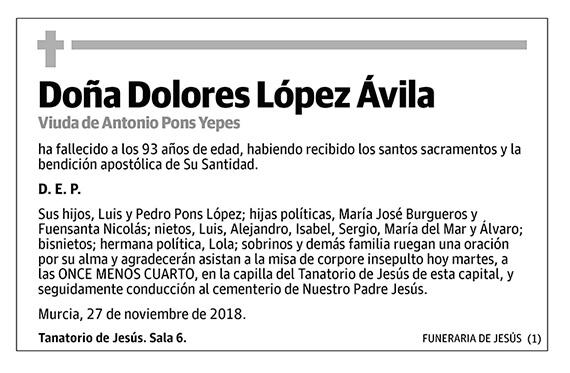 Dolores López Ávila