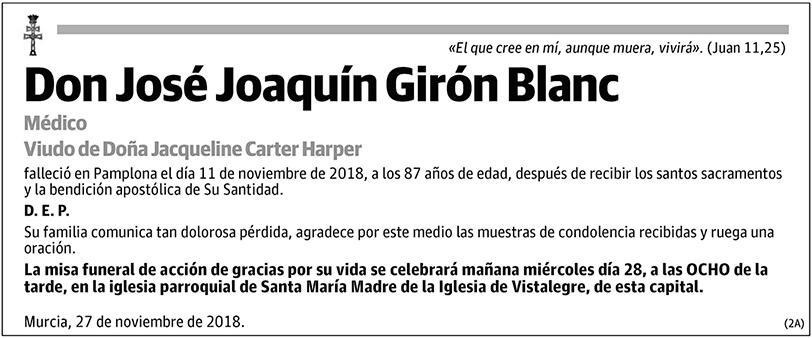 José Joaquín Girón Blanc