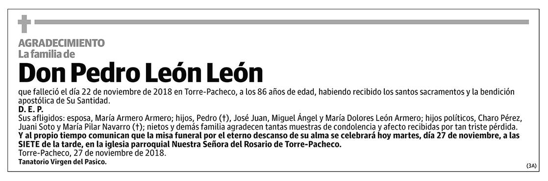 Pedro León León