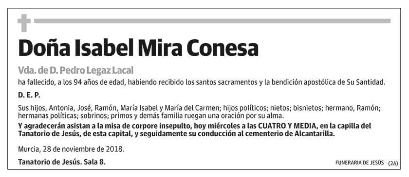 Isabel Mira Conesa