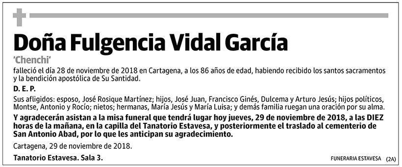 Fulgencia Vidal García