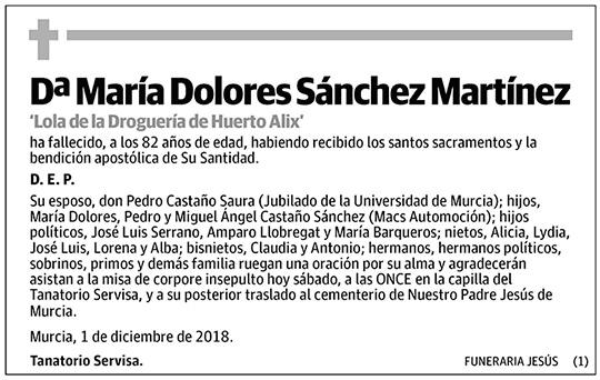 María Dolores Sánchez Martínez