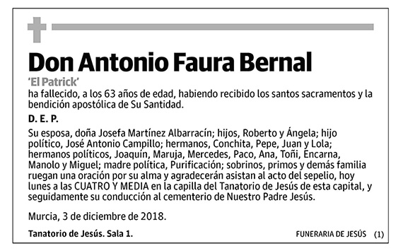 Antonio Faura Bernal