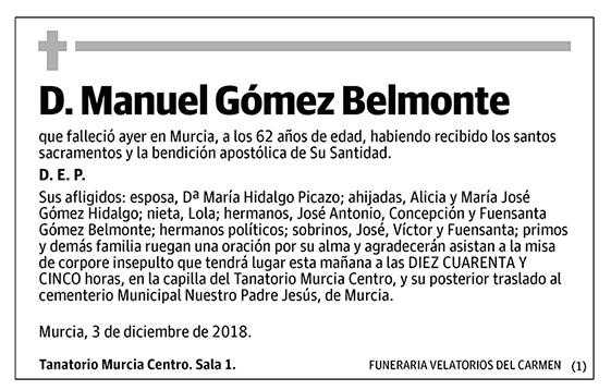 Manuel Gómez Belmonte