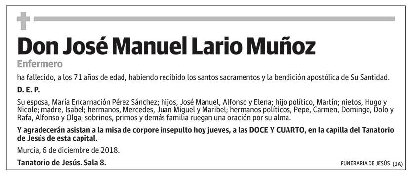 José Manuel Lario Muñoz