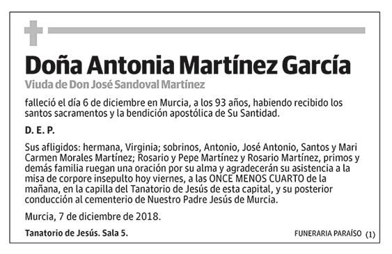 Antonia Martínez García