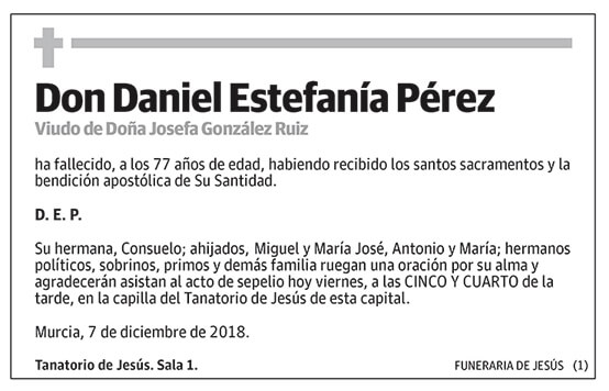 Daniel Estefanía Pérez