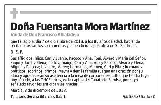 Fuensanta Mora Martínez