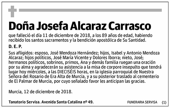 Josefa Alcaraz Carrasco