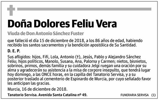 Dolores Feliu Vera