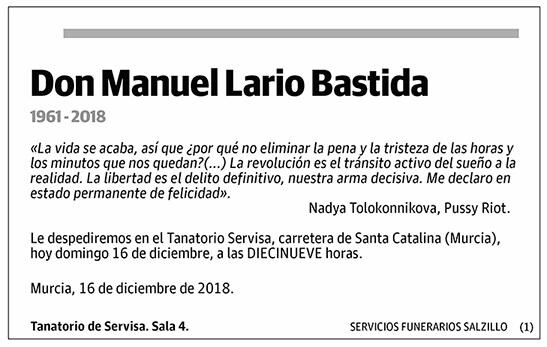 Manuel Lario Bastida