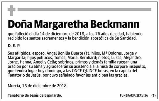 Margaretha Beckmann