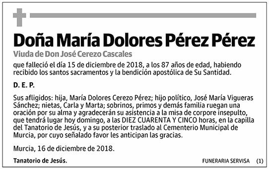 María Dolores Pérez Pérez