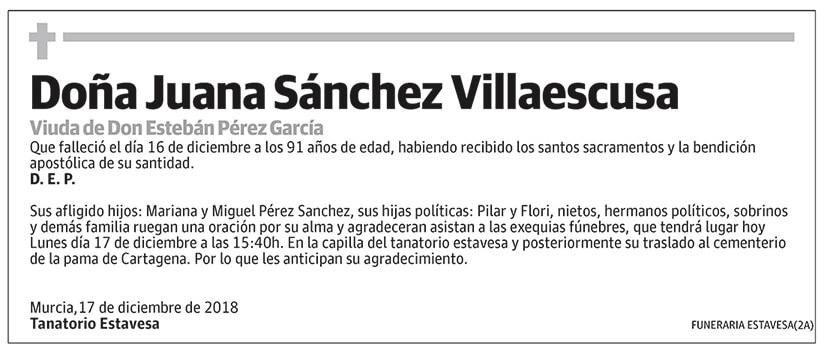 Juana Sánchez Villaescusa