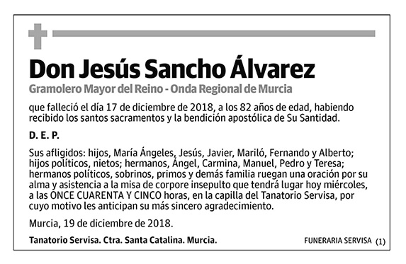 Jesús Sancho Álvarez