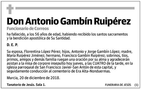 Antonio Gambín Ruipérez