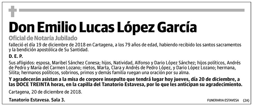 Emilio Lucas López García