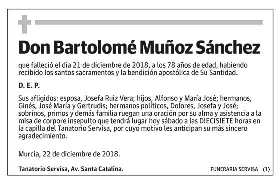 Bartolomé Muñoz Sánchez