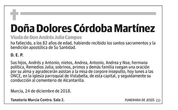 Dolores Córdoba Martínez