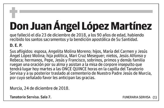 Juan Ángel López Martínez