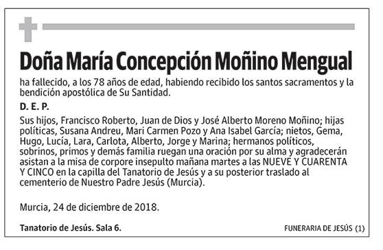 María Concepción Moñino Mengual