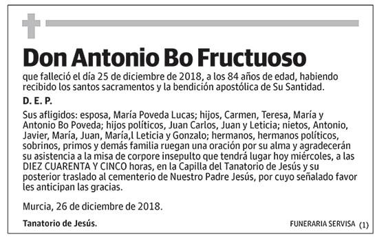 Antonio Bo Fructuoso