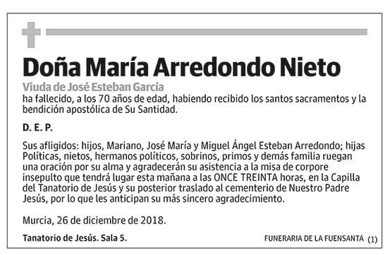 María Arredondo Nieto