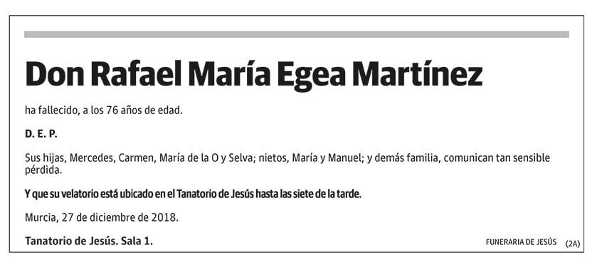 Rafael María Egea Martínez