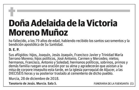 Adelaida de la Victoria Moreno Muñoz