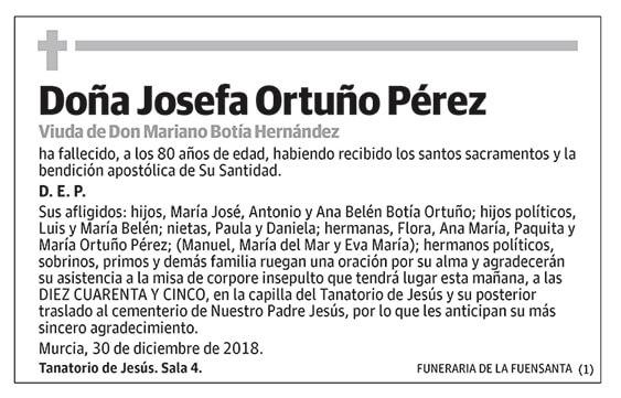Josefa Ortuño Pérez