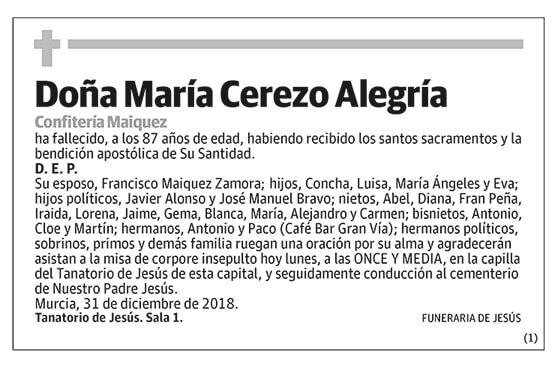 María Cerezo Alegría