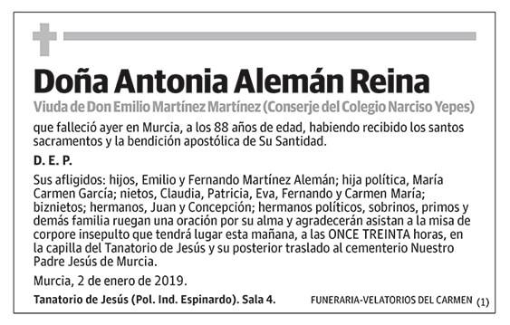 Antonia Alemán Reina