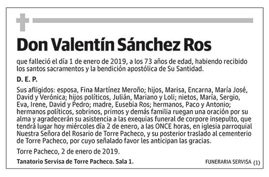 Valentín Sánchez Ros