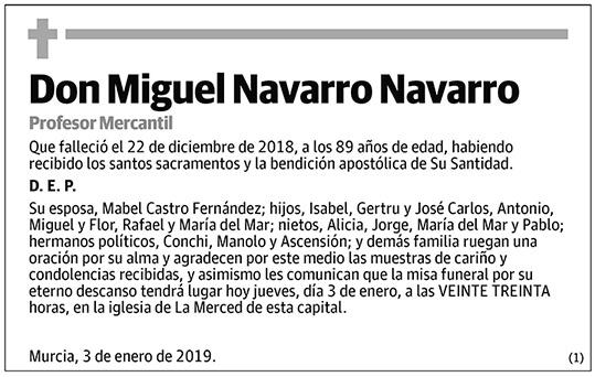 Miguel Navarro Navarro