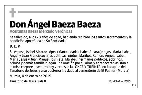 Ángel Baeza Baeza