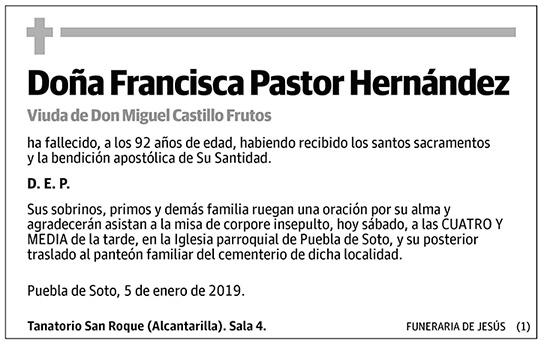 Francisca Pastor Hernández